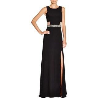 Aqua Womens Formal Dress Beaded Sleeveless
