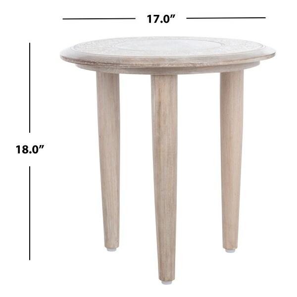 "Safavieh Rehnuma Carved Side Table - 17"" x 17"" x 18"""