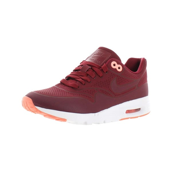size 40 2749e d3a1c Nike Womens Air Max 1 Ultra Moire Running Shoes Faux Leather Perforated