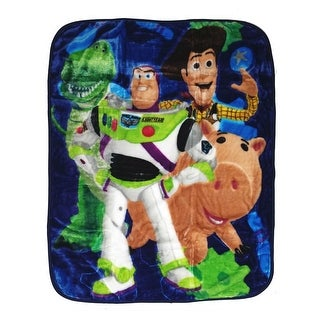 "Baby Boys Blue Toy Story Inspired Print Royal Plush Blanket 40"" x 50"" - One size"