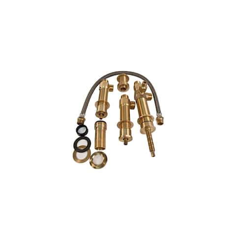 Newport Brass 1-666 Rough in Valve for Newport Brass 3-2047 Double Handle Deck Mounted Roman Tub Filler with Tub Spout,