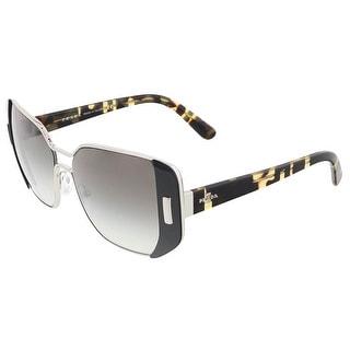 Prada PR 59SS 1AB0A7 Silver/Black Rectangular Sunglasses