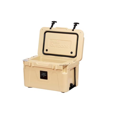 Monoprice Emperor Cooler, 25 Liter, Tan, Securely Sealed, Hot & Cold Conditions