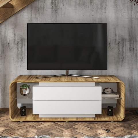 "Boahaus Wichita TV Stand, TVs up to 70"", 02 Drawers, 04 Shelves - 58 inches in width"
