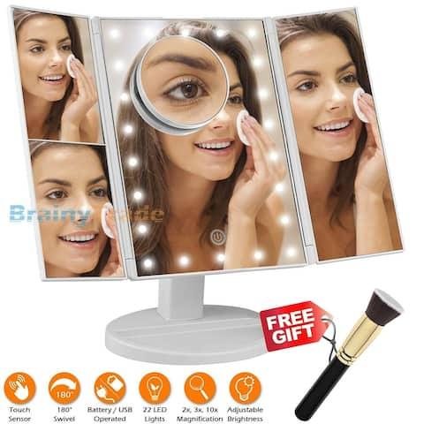 Folding Makeup Mirror with Led Light - M
