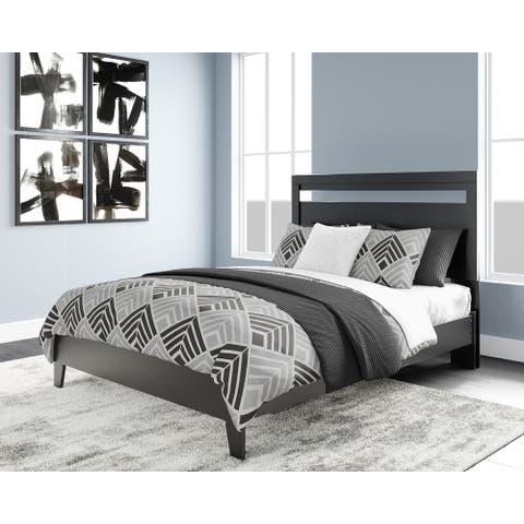 Flannia Queen Panel Platform Bed with Headboard