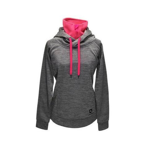 John Deere Western Sweatshirt Womens Hood Turtleneck Logo - S