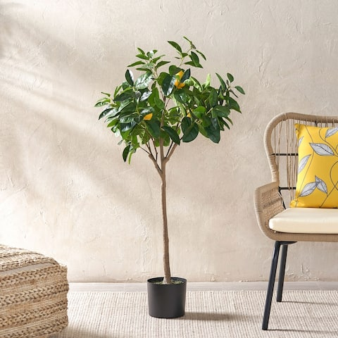 Wallowa Artificial Tabletop Lemon Tree by Christopher Knight Home