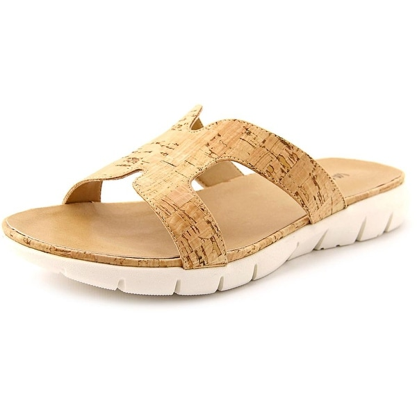 Vaneli Keary Women N/S Open Toe Canvas Nude Slides Sandal