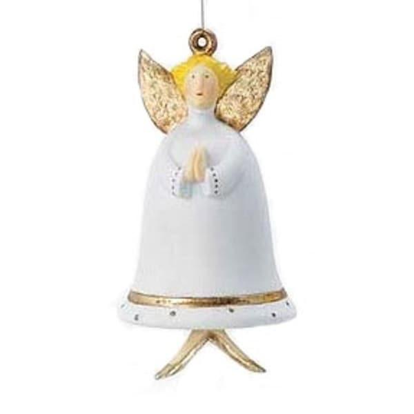 Department 56 Krinkles Angel Bell Christmas Ornament #796577 - WHITE