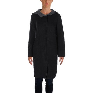 Eileen Fisher Womens Petites Coat Alpaca Wool - pm