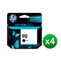 HP 98 Black Original Ink Cartridge (C9364WN) (4-Pack)