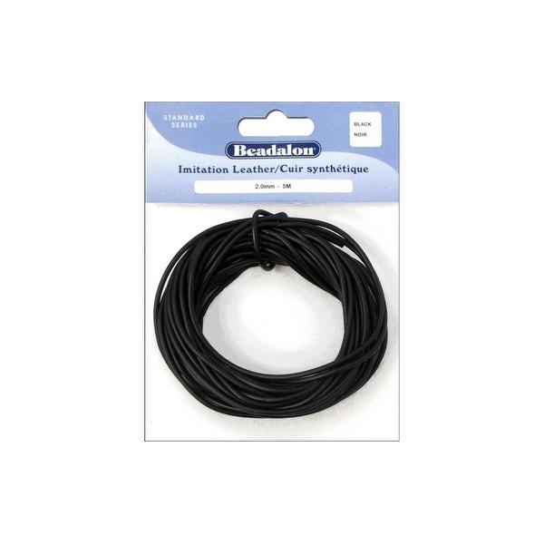 "Beadalon Imitation Leather Cord .079"" Black 5M"