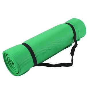 Gymnasium Fitness Exercise PVC Folding Yoga Mat Pad Support Green 177cm x 60cm