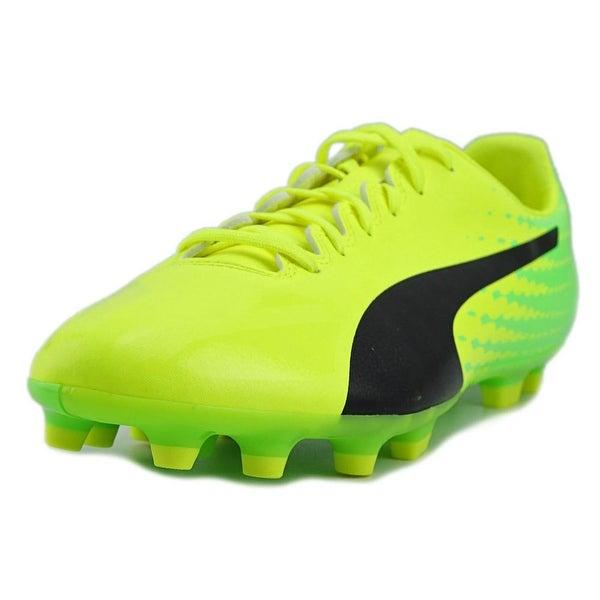 Puma EvoSPEED 17.4 AG Men Round Toe Synthetic Yellow Cleats