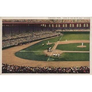 Chicago, Illinois - Comiskey Park, Home Plate, Baseball - Vintage Photograph (Keepsake Tin)