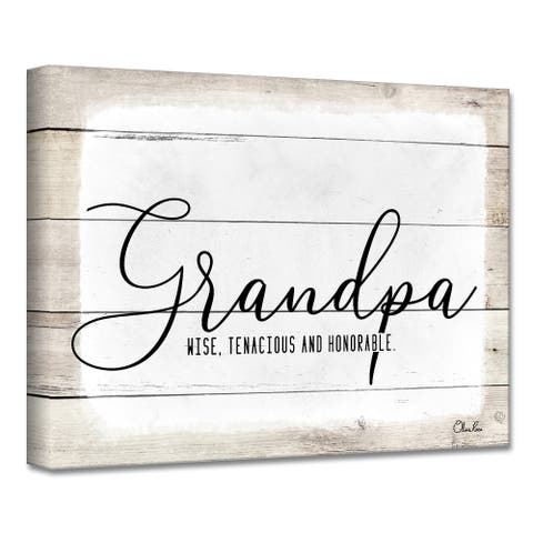 Olivia Rose 'Grandpa' Canvas Textual Wall Art