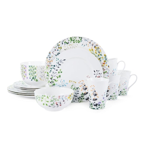 Mikasa Tivoli Garden Bone 16Pc Dinnerware Set (Service for 4)