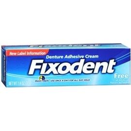 Fixodent Free Denture Adhesive Cream 1.40 oz