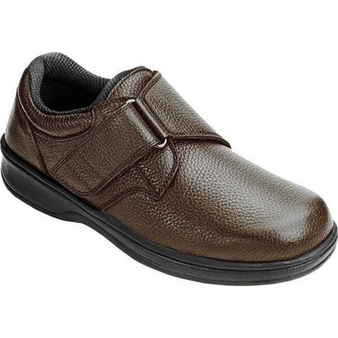 Orthofeet Men's Broadway Brown Leather