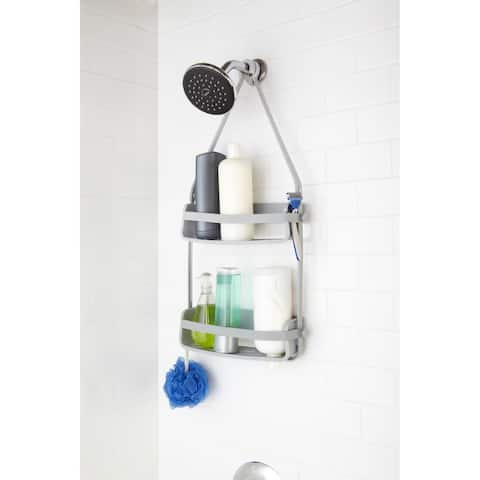 """Umbra 023460 Flex 25 1/2"""" Tall Polypropylene Shower Caddy with Two Shelves by Tom Chung"""