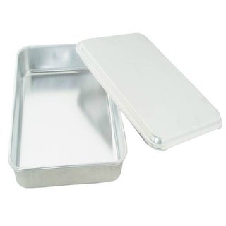 "Mirro 84975 Oblong Aluminum Cake Pan With Lid, 13"" X 9"" X 3-1/2"""