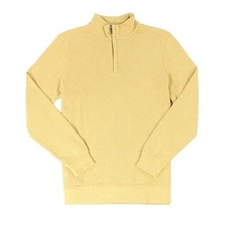 Tasso Elba NEW Honey Yellow Mens Size Medium M 1/2 Zip Woven Sweater