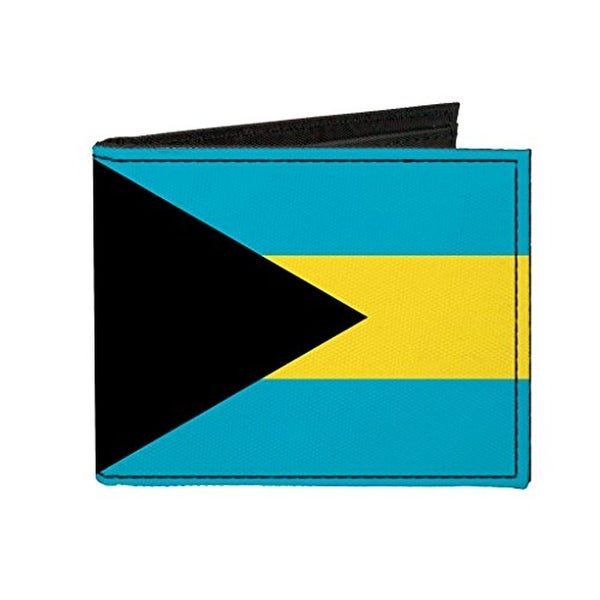 Buckle-Down Canvas Bi-fold Wallet - Bahamas Flag Accessory