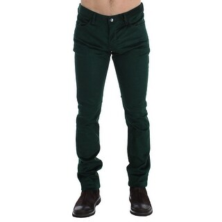 Costume National Green Corduroy Slim Fit Pants Jeans - w34