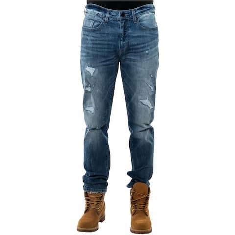 Sean John Mens Tapered Athletic Fit Jeans, Blue, 36W x 34L