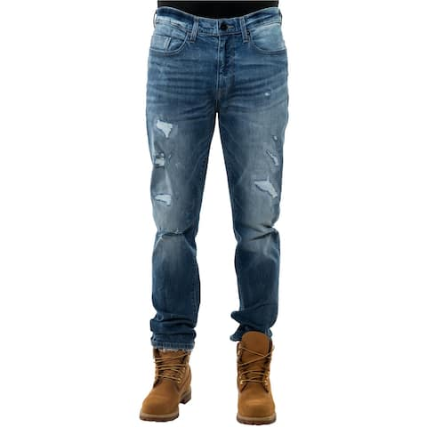 Sean John Mens Tapered Athletic Fit Jeans