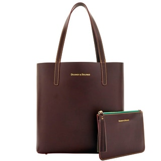 Dooney & Bourke Montecito Waverly Tote Pouch (Introduced by Dooney & Bourke at $298 in Aug 2016) - brown tmoro green