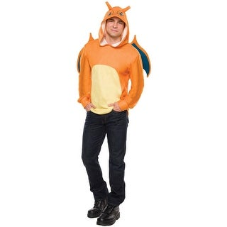 Rubies Charizard Hoodie Adult Costume - Orange - Standard