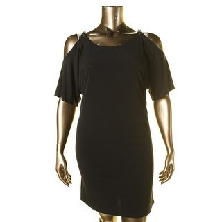 MICHAEL Michael Kors Womens Matte Jersey Open Shoulder Cocktail Dress
