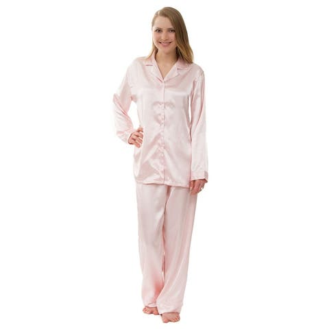 Women's Satin Pajam Set, Silky Satin Pajama Set