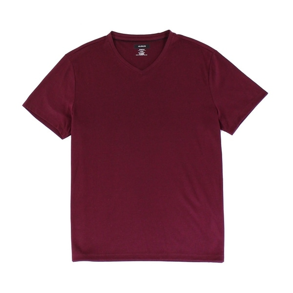 a233c8292 Shop Alfani Tango Red Mens Size Medium M V Neck Dressy Tee T-Shirt - On  Sale - Free Shipping On Orders Over  45 - Overstock - 28049207