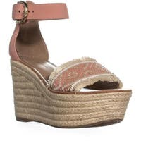 Tommy Hilfiger Terrin Ankle Strap Wedge Sandals, Blush
