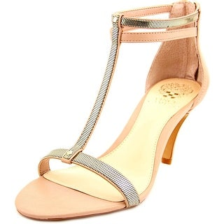 Vince Camuto Makoto Women  Open Toe Leather Gold Sandals