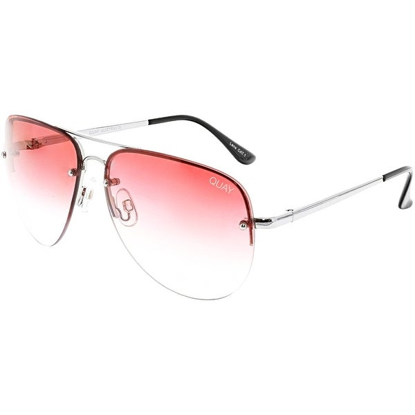 e74b88824e Shop Quay Women s Gradient Muse Fade QU-000178-SLV RED Silver ...