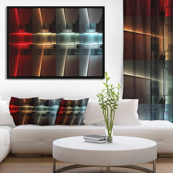 Led Lighting Abstract Framed Canvas