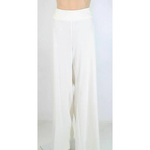 Alfani Womens Pants Bright White Size 20W Plus Tummy Control Slim Leg