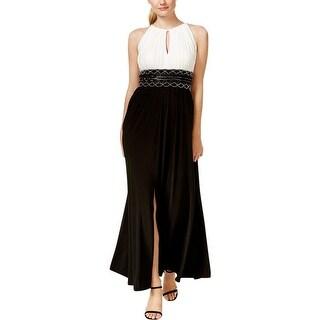 R&M Richards Womens Petites Evening Dress Matte Jersey Embellished - 12P
