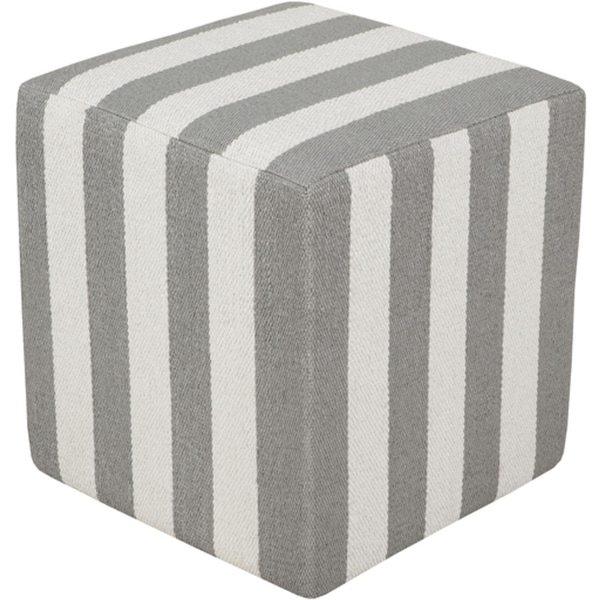 White Pouf Ottoman Impressive Shop 60 Ivory White And Fog Gray PVC And Cotton Pouf Ottoman Free
