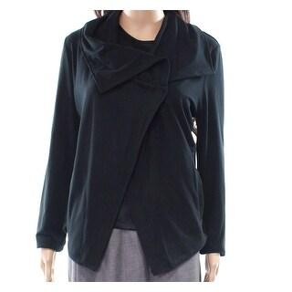 Betsey Johnson NEW Black Women's Size Large L Button Collar Jacket