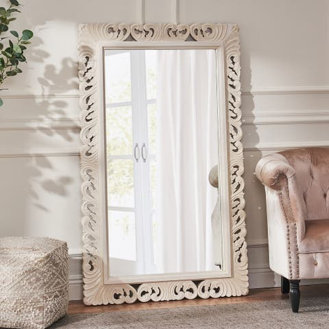"""Ravalli Traditional Handcrafted Standing Mirror by Christopher Knight Home - 36.00"""" L x 1.75"""" W x 58.00"""" H"""