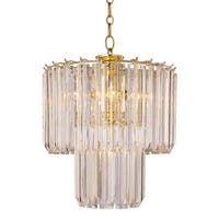 Trans Globe Lighting 9646 Five Light Down Lighting Two Tier Chandelier from the Back To Basics Collection - Polished brass