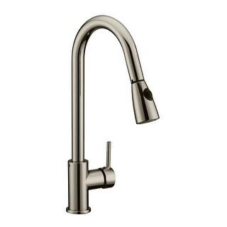 Design House 547851 Pull-Down Spray Gooseneck Kitchen Faucet - satin nickel - n/a