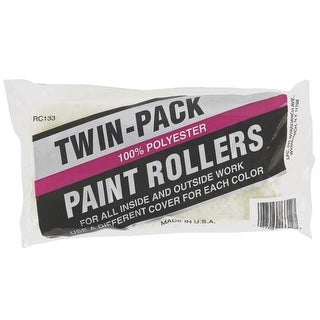 "Linzer RC133/26-807 Twin Pack Paint Roller Covers, 9"" x 3/8"""