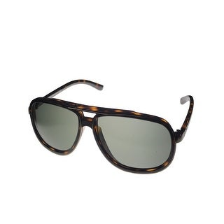 John Galliano Mens Sunglass JG36 52 Tortoise Plastic Aviator, Brown Lens - Medium