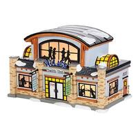 Department 56 Snow Village Health Club Ceramic Lighted Building #4036568 - silver
